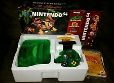 ☆ Nintendo 64 Jungle Green Console Donkey Kong Bundle in Box N64 Game Lot ☆clean