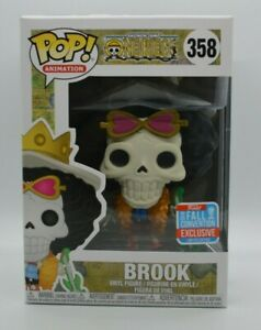 Funko Pop! One Piece #358 Brook 2018 NYCC Fall Convention Exclusive W/Hard Stack