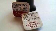 Cartier watch parts Cartier Crown Santos Car 20361554 PM Blue Sapphire