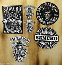 6er Oldschool Aufkleber Set SOA Samcro Biker Sons of Anarchy Bobber 1% Skull USA