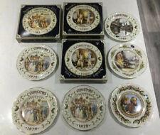 Ansley china christmas Plates 9 In Total Job Lot. Rare
