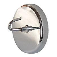 Verchromter Rundmagnet mit Haken Hook Öse starker Neodym Magnet Magnethaken 9 kg