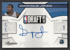 Dominique Jones 2010-11 Panini Prestige Draft Rookie Autograph On Card Auto #25