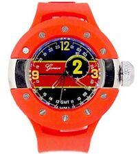 New Red Black Oversized Luxury Mens Geneva Metal Watch Fashion Designer