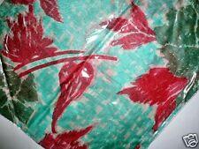 100% reine Seide, Pali Tuch, Stola, grün rot 100 x 100 cm, Schal NEU+TOP