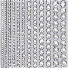614 x Mixed Size 2 3 4 5 6 & 7mm Clear Rhinestone Diamante Stick On STRIP GEMS