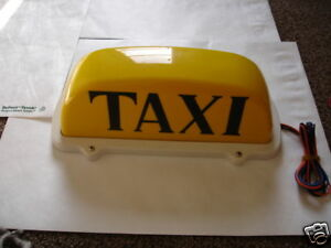 Taxi Light, Yellow, Magnetic, 12 Volt, Cab, Hackney NY Checker light up