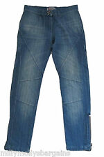 New Womens Blue Lipsy Crop Jeans Size 8 RRP £38