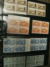 Switzerland  Special Stamps! 4er Blocks,  Swiss stamps (1945,1946,1947)