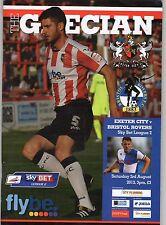 Exeter City V Bristol Rovers MINT programme 2013-2014