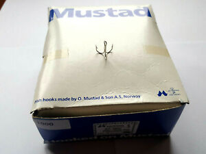 1000 MUSTAD TREBLE HOOKS 35657 SIZE 6 MADE IN NORWAY