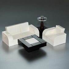LEGO Furniture: 4 Piece Seating Set (White) w/ Couch, Chair, Tables [lot,parts]