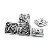 10pcs Antique Silver Flower Shank Metal Buttons Sewing Craft Embellishment 13mm