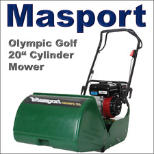 """Masport Olympic Golf 20"""" Cylinder Petrol Lawnmower Self Propelled Lawn Mower"""
