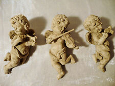 Engel 3er Set Gips Figuren naturbelassen ✿ Angel ✿ 15x6cm