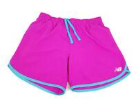 NEW BALANCE Girls Magenta Purple Aqua Running NB Dry Active Wear Shorts SZ 14/L