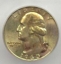 1960-D WASHINGTON SILVER 25 CENTS ICG MS66+ VALUED AT $110!