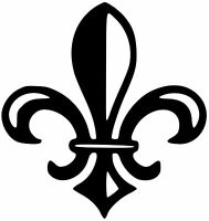 FLEUR-DE-LIS Vinyl Decal Sticker - Flower of the Lily fleur-de-lys French
