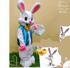 Easter Bunny Mascot Costume Cartoon Rabbit Parade Dress Cosplay Party