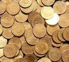 10 Reichspfennig 1937 - 1939. 100 nazi German coins. Many mint marks. KM#92