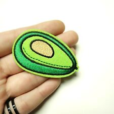 Avocado Patch Iron On Embroidered Applique DIY fruit heathly food vegan Mexican