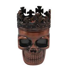 King Skull Smoke Grinder Herb Metal 3 Piece Hand Crank Herbal Tobacco Grinder