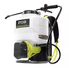 Ryobi P2840 Backpack Chemical Sprayer 18V Cordless Shoulder Strap 4-Gallon New!
