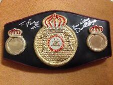 WBA Belt Signed by Tyson Fury & David Haye