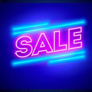 Custom Made LED Neon Window Signs Lights Sales Super Sales Black Sales Word Lamp