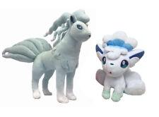 Set of 2 Pokemon Center Alola Ninetales and Vulpix Soft Plush Toy Stuffed Doll