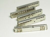 N SCALE BRASS AMTRAK SUPERLINERS 5-CAR SET PACIFIC FAST MAIL USA