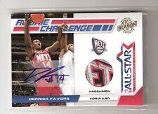 Derrick Favors 10-11 Panini Rookie Challenge Auto 4 Color Patch #2 SN # 4/5