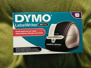 DYMO LabelWriter 450 Turbo label Thermal Printer Black Model 1750283  Open Box