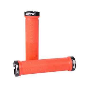 130*34mm MTB Bike Bicycle Handlebar Grips Lockable Non-slip Alloy&Rubber Grips