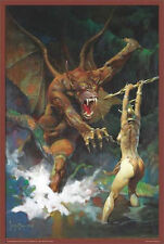 Frank Frazetta Beauty and the Beast 24 x 36 inch Fantasy Art Poster
