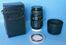 Sigma 70 - 300mm F4 - 5.6 APO 1:1 Macro AF Zoom Lens - Minolta AF / Sony A Mount