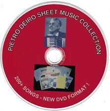 200+ Pietro Deiro (NEW) Accordion Sheet Music - (CDs #1,2,3,4,& 5) on DVD Format