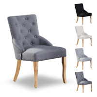 Kensington Fabric Tufted Armchair Dining Kitchen Accent Chairs Home Furniture
