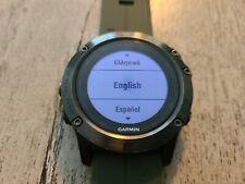 Garmin Fenix 5X Sapphire GPS Fitness Tracker - Slate Gray New Band + EXTRAS