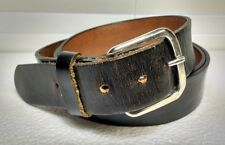 Size 56 TOP GRAIN Oil Tanned Leather Belt Black MADE in USA