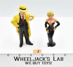 "Dick Tracy & Breathless Mahony #1 PVC Disney Applause 4"" Vinyl Figures"