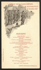 Menu. Banquet Sapeurs-Pompiers. Petit Quevilly. 1907. Normandie