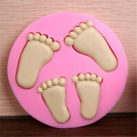 3D Baby Feet Silicone Fondant Mould Sugarcraft Cake Clay Mold Baking Tools