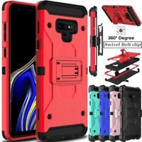 For Samsung Galaxy Note 9 Phone Case Shockproof Clip Stand Armor Rugged Cover