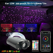 12V RGBW LED Car Star Ceiling Light Kit + 300x Fiber Optic Strip Bluetooth APP