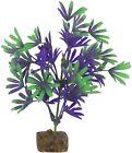 GloFish Plant Aquarium Decor Purple  Green 7.5 inch Aqua heavy weighted decor
