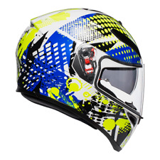 AGV K3 SV Motorcycle Helmet - Pop - White/Blue/Lime ML