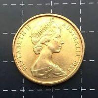 1984 AUSTRALIAN $1 ONE DOLLAR COIN - EF