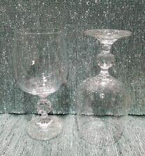 "Set of 2 Bohemia Claudia Lead Crystal Wine Glasses 6 1/2"""