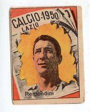 CALCIO FIGURINA  CALCIATORI   VAV  CAMPIONATO 1950   LAZIO  REMONDINI